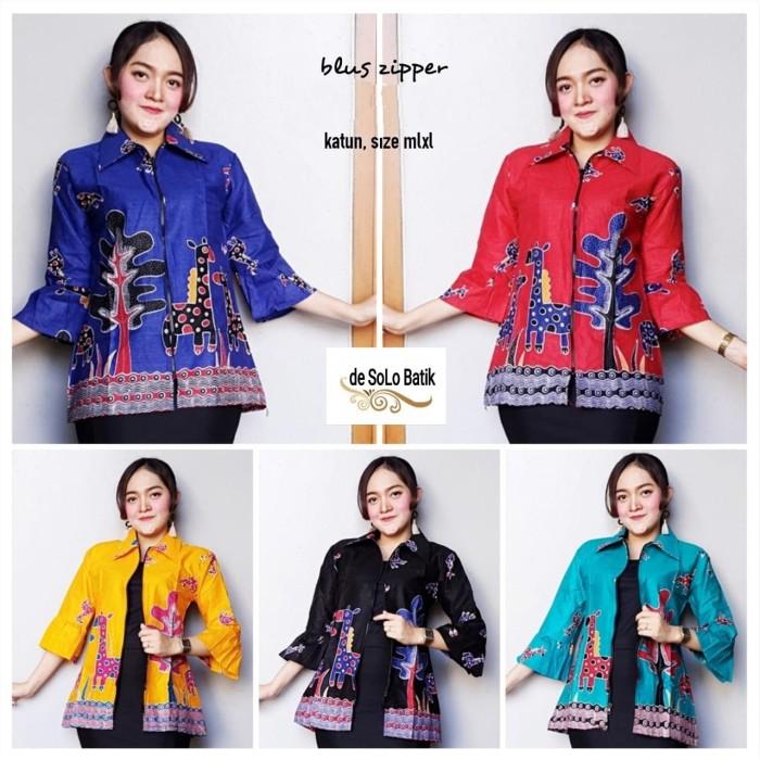 harga Blouse batik solo - blus batik modern - baju hijab batik solo Tokopedia.com
