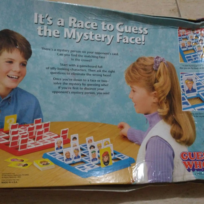 Jual The Mistery Face Game GUEST WHO? by Hasbro - BBC Shop | Tokopedia