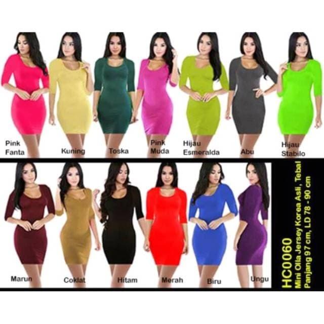 harga Mini dress olla polos hc0060 Tokopedia.com