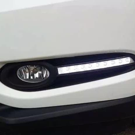 Drl oem mobil honda hrv 9 led dengan lampu sign