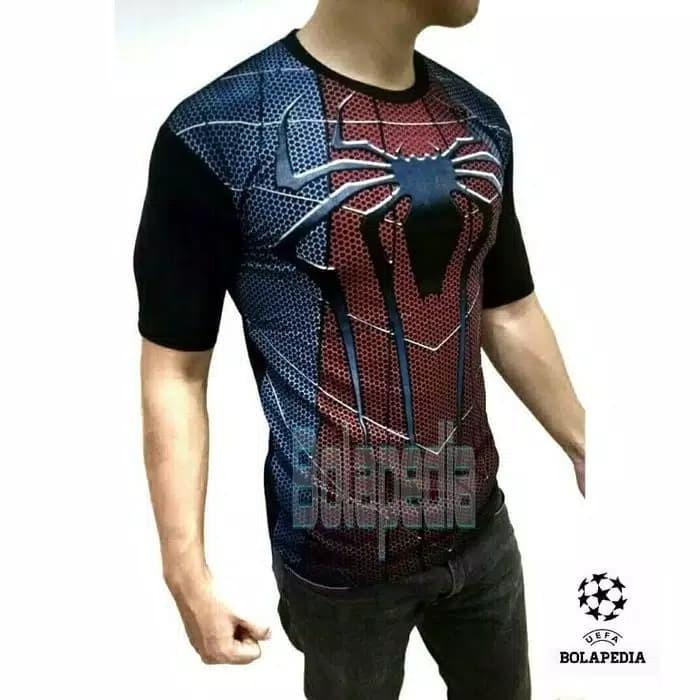 Jual Baju Kaos SPIDERMAN 3D Kaos Distro Pria Superhero
