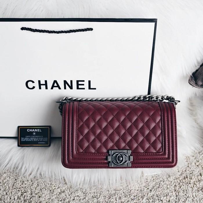 Jual Chanel Boy Medium Classic Flap Bag - Bagwonder id  d0c37d6d02