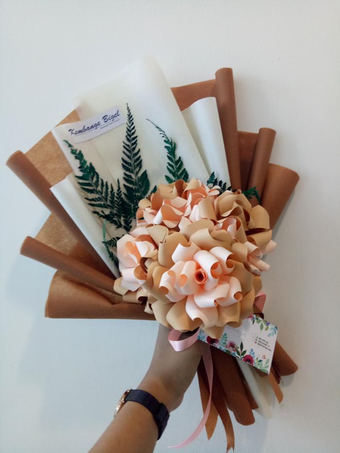 Jual Bunga Kertas Kombinasi Orange Brown Emas Kota Semarang Malinaflowers Tokopedia