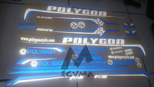 harga Stiker Frame Polygon Plateau Xtrada Premier Collosus Cozmic Custom Tokopedia.com