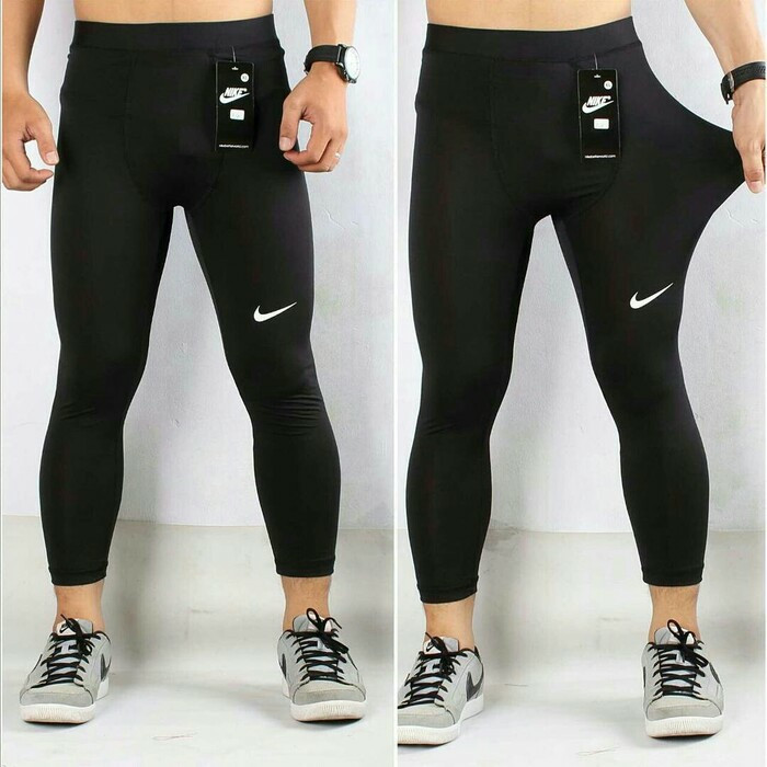 Jual Celana Manset Legging Pria Warna Hitam Bawahan Nike Adidas Kota Denpasar Green Life 55 Tokopedia