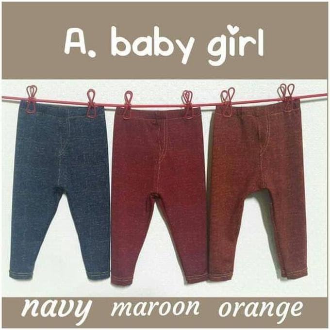 Jual Legging Bayi Newborn 1 Thn Leggings Baby Denim Celana Leging Anak Jakarta Timur Angkasajunior Tokopedia