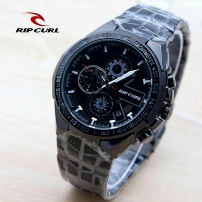 harga Jam tangan pria ripcul date crono on stainlist black Tokopedia.com