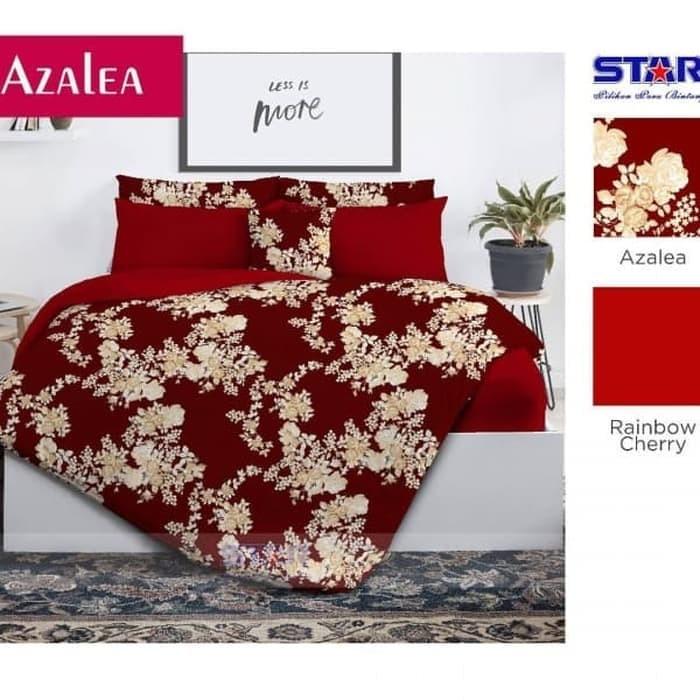 Bedcover Set star AZALEA Ukuran NO.4 SINGLE 100X200 /Sprei - MERAH