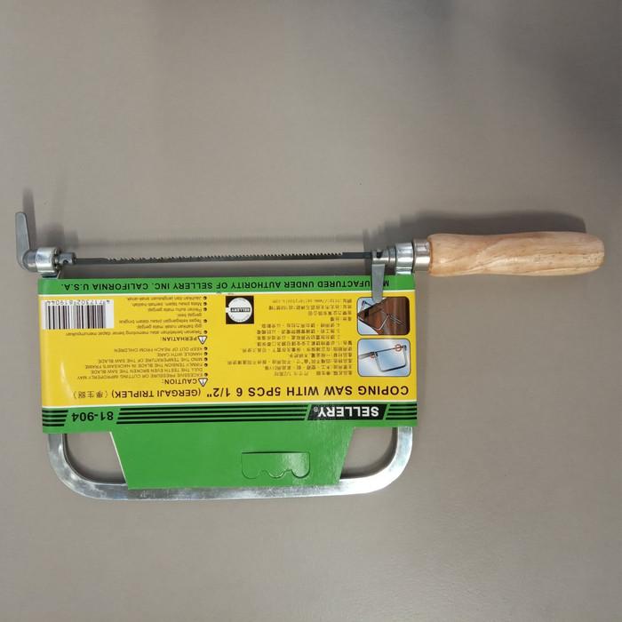 harga Sellery coping saw with 5pcs atau gergaji mini 6per12inch 81-904 Tokopedia.com