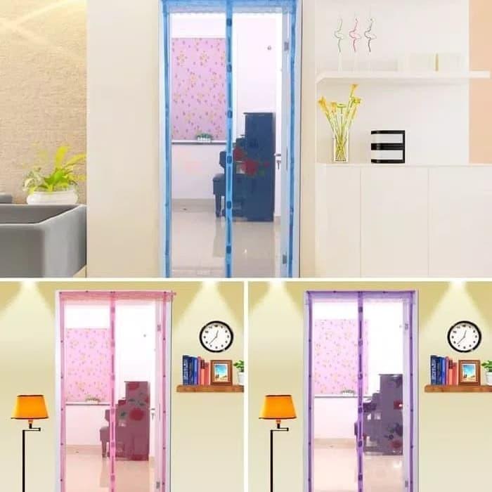 harga Tirai pintu / tirai pintu anti nyamuk magnetic door yarn curtain Tokopedia.com