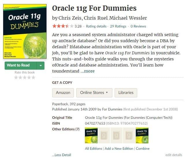 Oracle 11g For Dummies Ebook