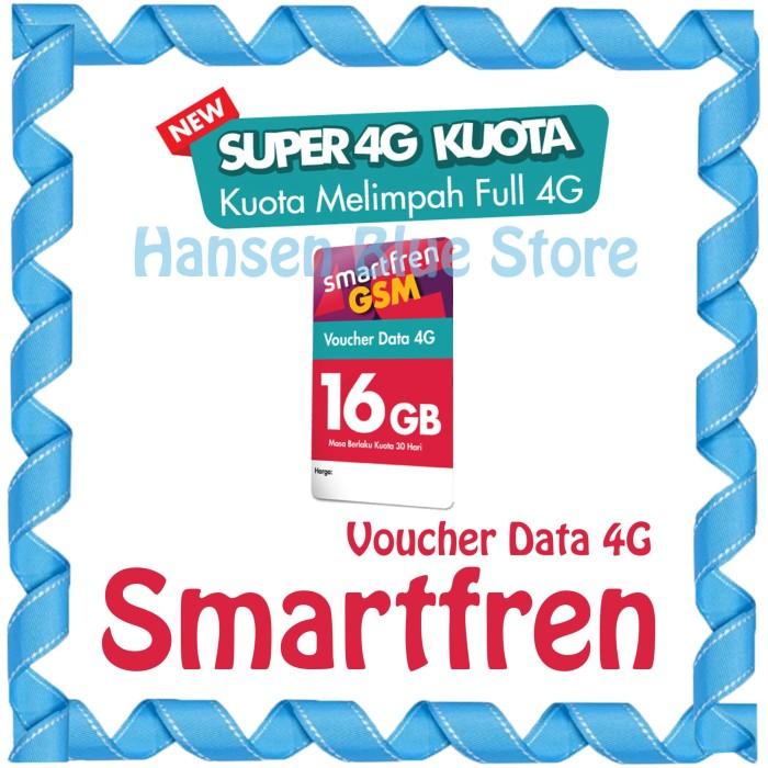 harga Voucher data smartfren paket super 4g kuota 16gb Tokopedia.com