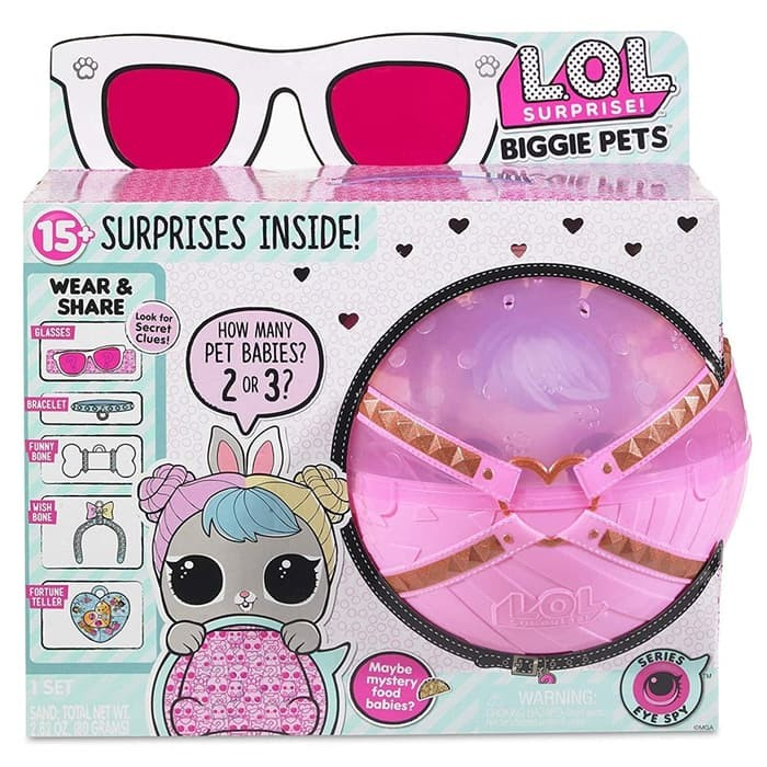 L.O.L Biggie Pet Dollmation with 15 Surprise Surprises