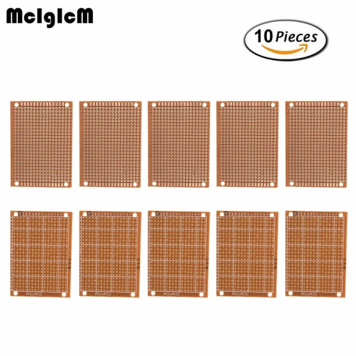 10Pcs Prototyp PCB-Panel Universal Experiment Matrix Circuit Board Plate 5 x 7cm