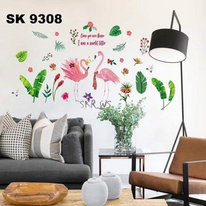 jual wall sticker 60x90 daun flamingo leaf - kota kediri - sabrina