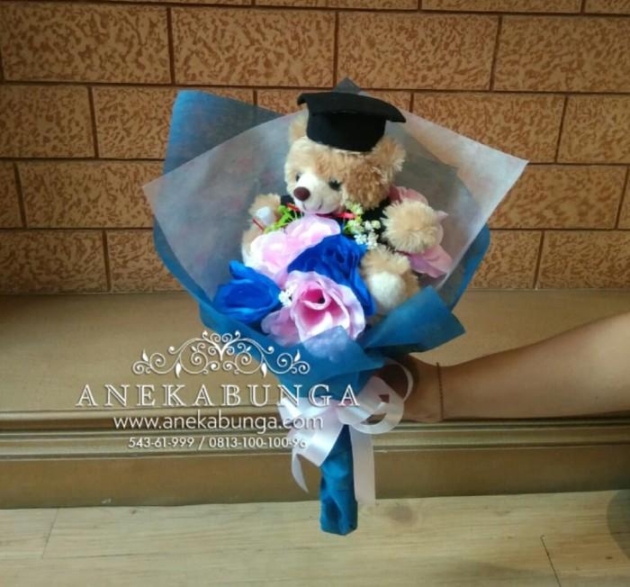 harga Buket bunga mawar plastik artificial hand bouquet flower boneka  wisuda Tokopedia. a855bbd14e