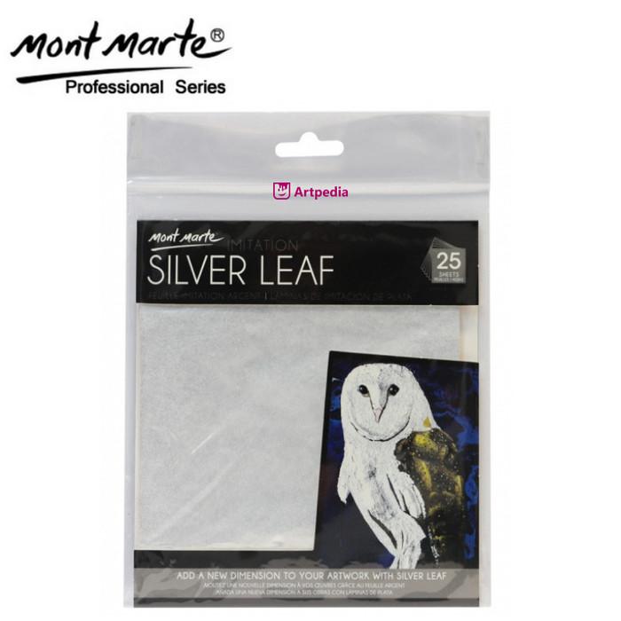 Jual Mont Marte Imitation Silver Leaf 14x14cm 25 Sheet / Mont Marte Silver  - Kab  Bandung - Artpedia Shop | Tokopedia