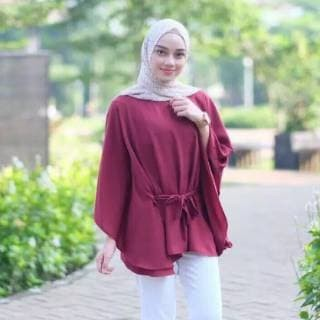 Baju Atasan Blouse Tunik Wanita Baju Muslim Blus Muslim Clove Blouse