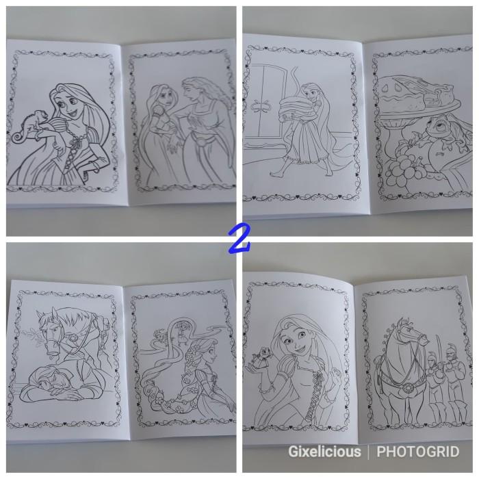 Jual Buku Mewarnai Custom Rapunzel A Gading Grosir Tokopedia