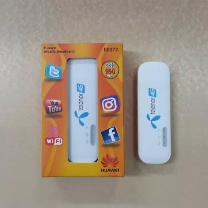 Modem Usb Wifi Huawei E8372 4G LTE Wingle Telenor 150Mbps Original