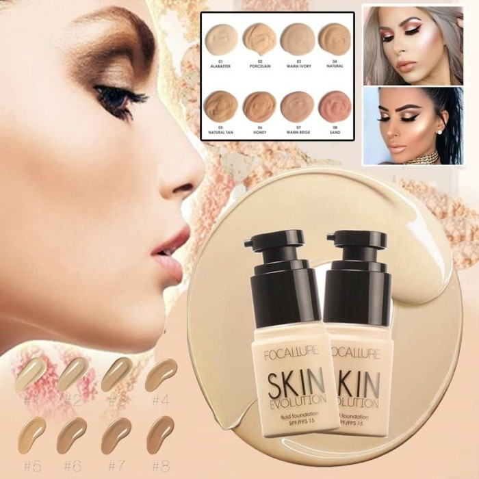 Focallure new maquiagem face foundation makeup fondotinta liquido
