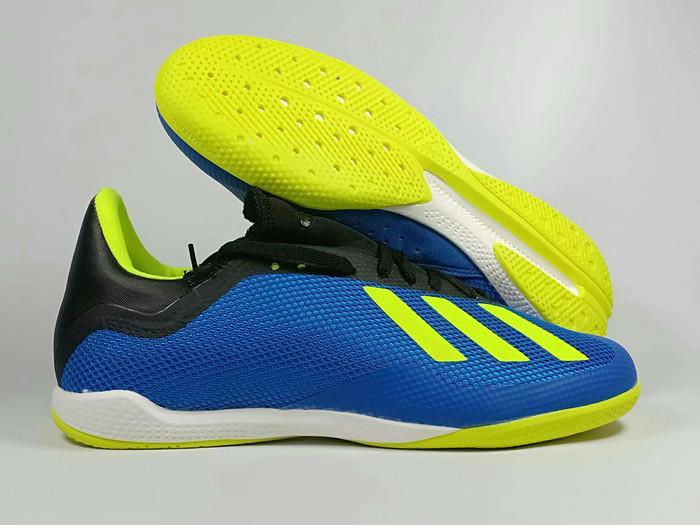 reputable site e61b3 b0a08 Jual Sepatu Futsal Adidas X18.3 Blue Yellow IC - Kota Batam -  Doeglass_sport | Tokopedia