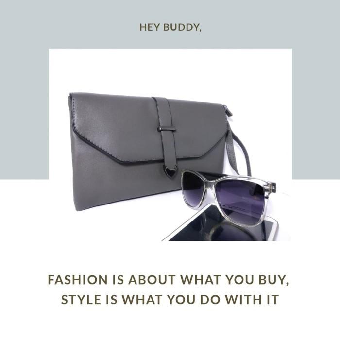 Simple clutch   Tas Pesta   tas selempang wanita   tas import murah - Hitam 3bcdc27698