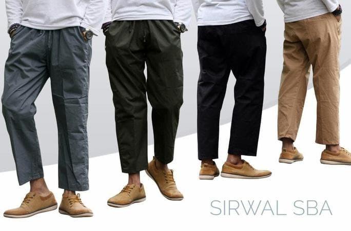 Celana Sirwal Sba , Celana Muslim , Celana Sunah L - Xl - Coklat Muda,