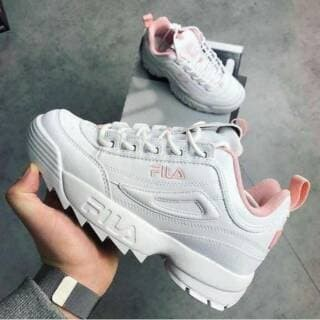 Jual  Shoes Shoe  Sepatu fila disruptor white pink premium quality ... 574b937f4b