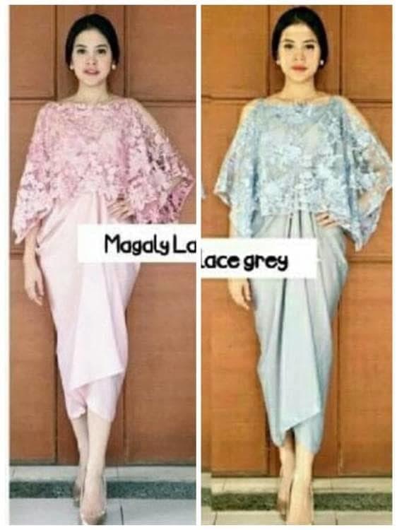 Jual Gaun Pesta Wanita Baju Branded Mewah Elegan Dress Midi Kebaya