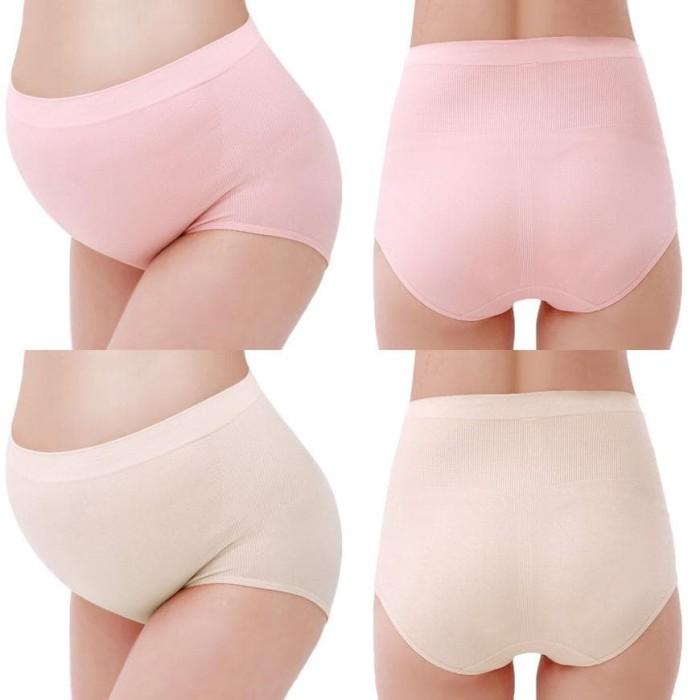 Seamless High Waist Prop Belly Maternity Briefs Celana Dalam Ibu Hamil 944e73421d