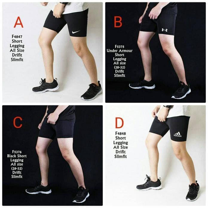 Jual Celana Legging Pendek Pria Sport Gym Fitnes High Quality Kab Sukoharjo Janetmarya Tokopedia
