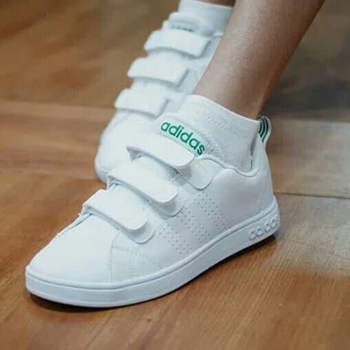 Jual Adidas Neo Advantage Velcro White