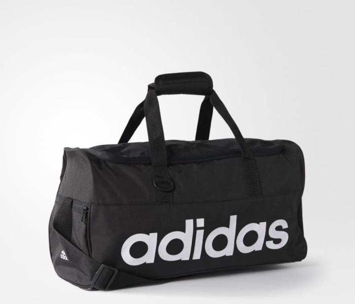 5cc5a6f75996 Jual Tas Adidas Linear Performance Duffel Bag Small Black Original ...
