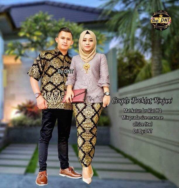 Jual sarimbit batik couple modern   batik couple broklat rinjani ... 25bd32f493