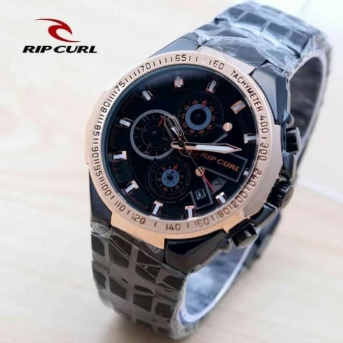harga Jam tangan pria ripcul date crono on stainlist black rose gold Tokopedia.com