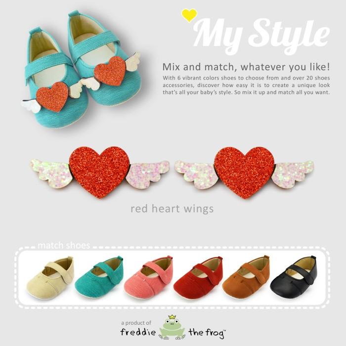 harga Prewalker - sepatu bayi | freddie the frog | my style red heart wings