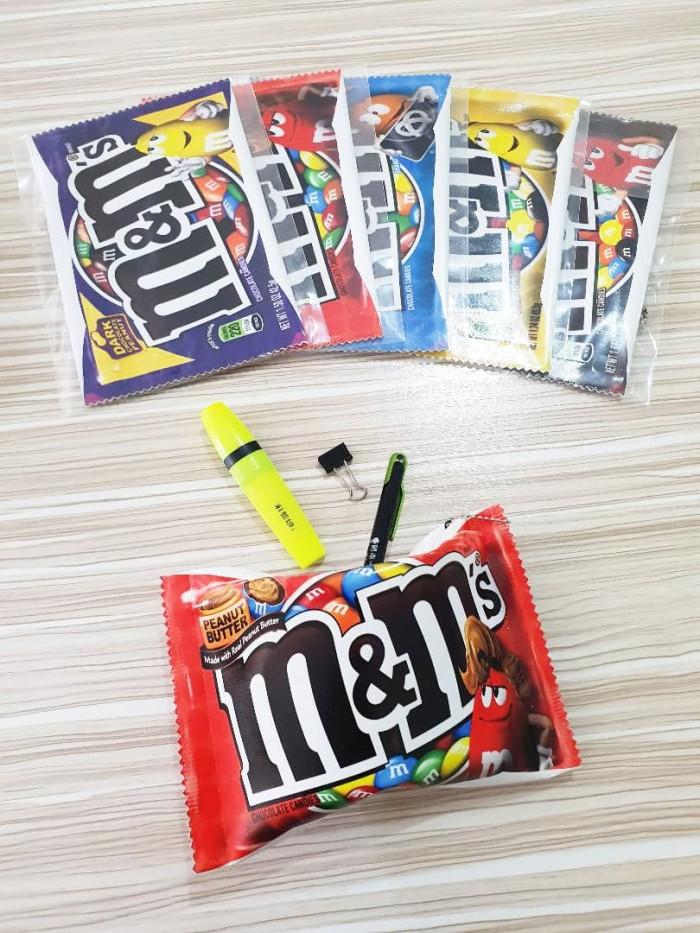 Foto Produk Pouch m&m's / Tempat Pensil Unik Permen Coklat m&m 's Chocolate Candy dari TOPSOUL 1