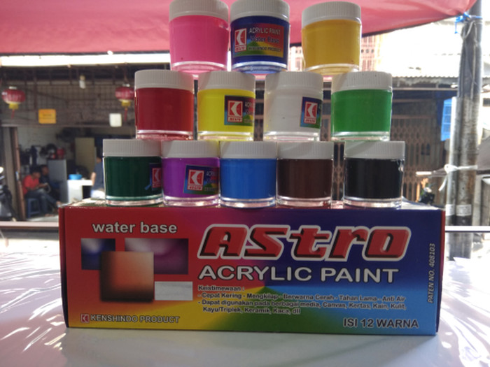 Jual Cat Akrilik Acrylic Astro 12 Warna Alat Gambar Lukis Melukis Sus6 Jakarta Selatan Bejo Store 88 Tokopedia