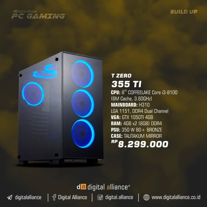 harga Pc gaming da t zero 355 ti Tokopedia.com