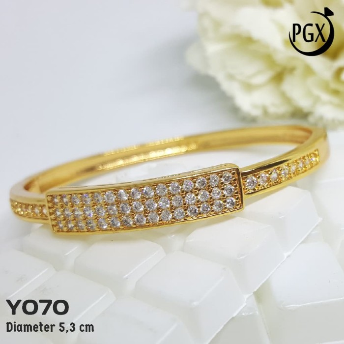 Y70 Gelang Bangkok Chanel | Set Perhiasan Imitasi Xuping Lapis Emas