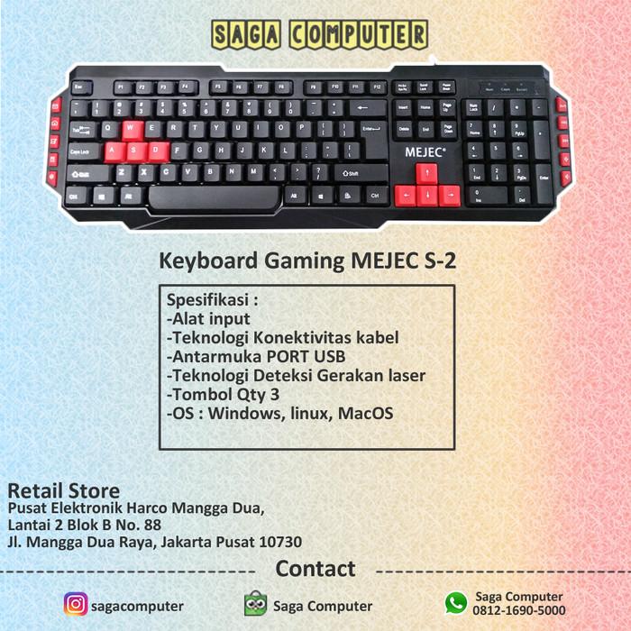 Foto Produk MEJEC S2 Keyboard Gaming Murah Kualitas No.1 dari sagacomputer