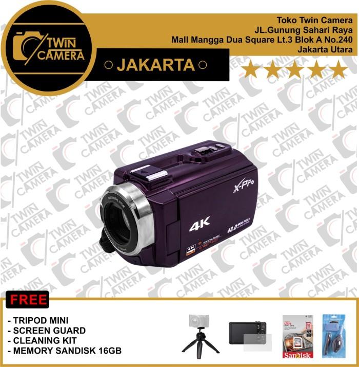 harga Handycam x-pro dvc hdv-pz5000 4k - dark purple Tokopedia.com