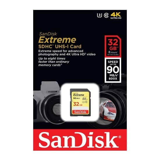 harga Sandisk extreme sdhc uhs-i card 32gb class 10 speed up to 90mb/s Tokopedia.com