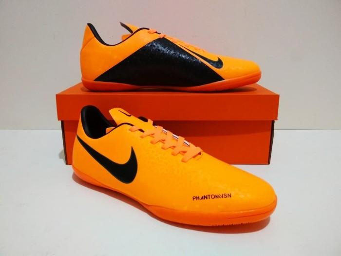 GRADE ORI SEPATU FUTSAL Nike Phantom VSN Vision IC (Orange Black)