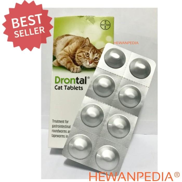 DRONTAL PLUS CAT 1 Tablet (BB 4 kg) - Obat Cacing Kucing PT Bayer