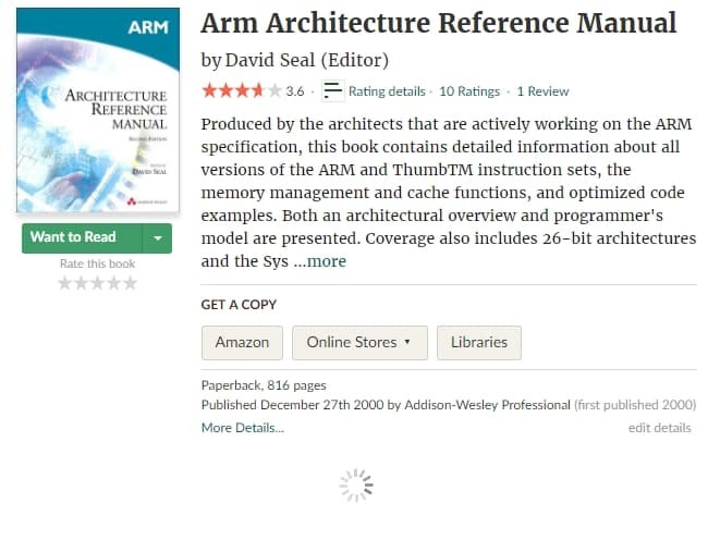 Arm Architecture Reference Manual By David Seal Pdf
