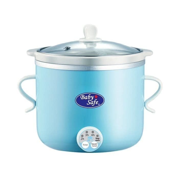 GOJEK ONLY Baby Safe LB007 Slow Cooker 0 8L BLUE
