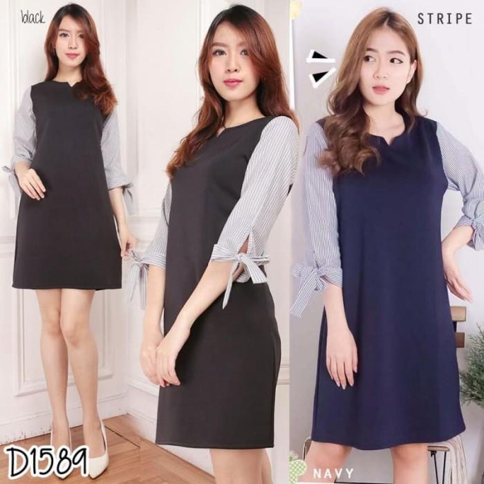 Jual Dress Casual Baju Dress Simple Scuba Mix Katun Best Seller D1589 Jakarta Pusat Simpfash Tokopedia