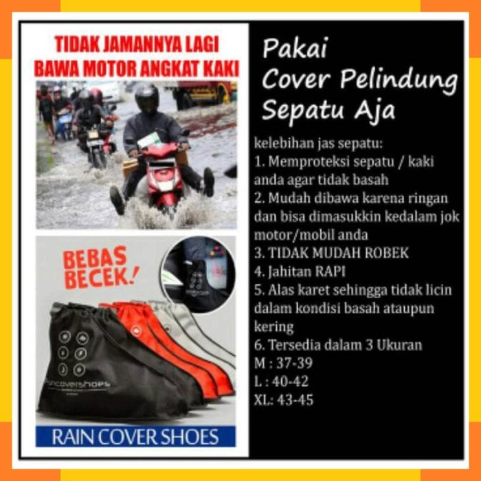 Cover Shoes New FUNCOVER SILVER / ABU-ABU, Jas Hujan Sepatu